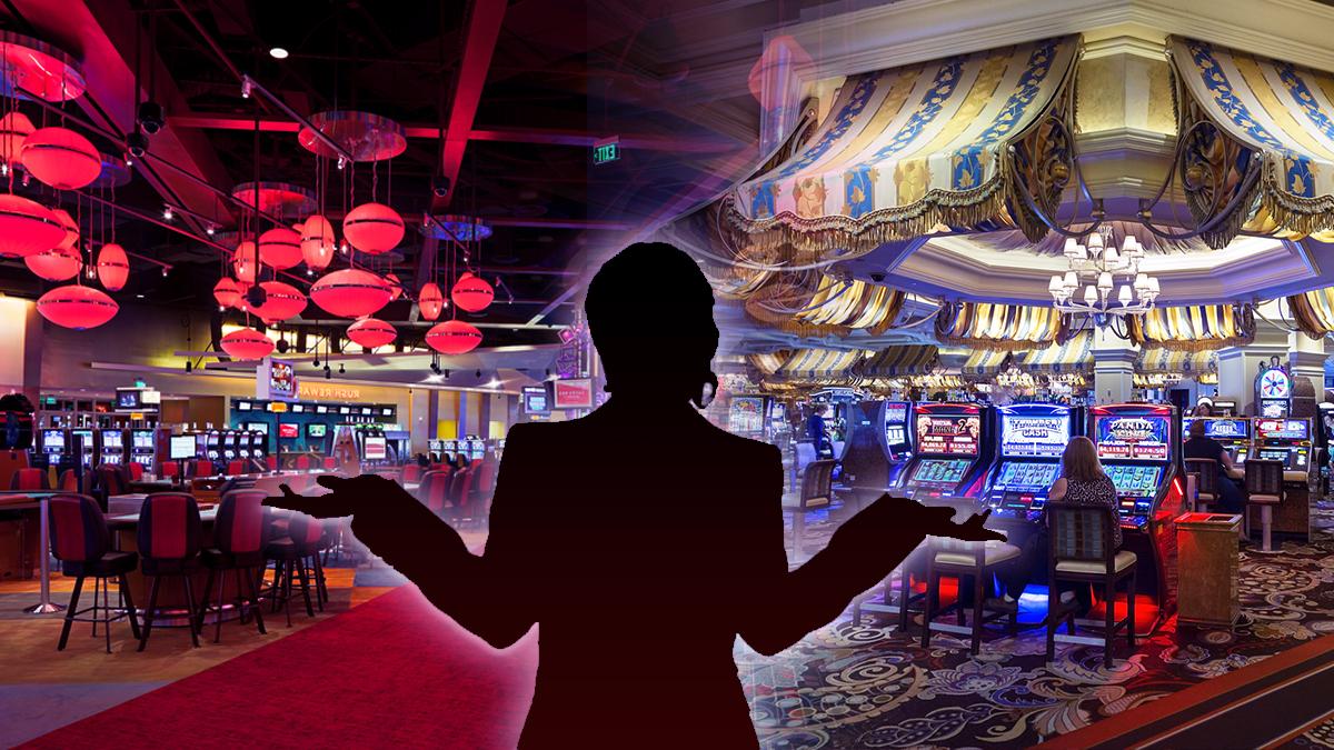 Siluet Wanita Bingung di Depan Lantai Kasino