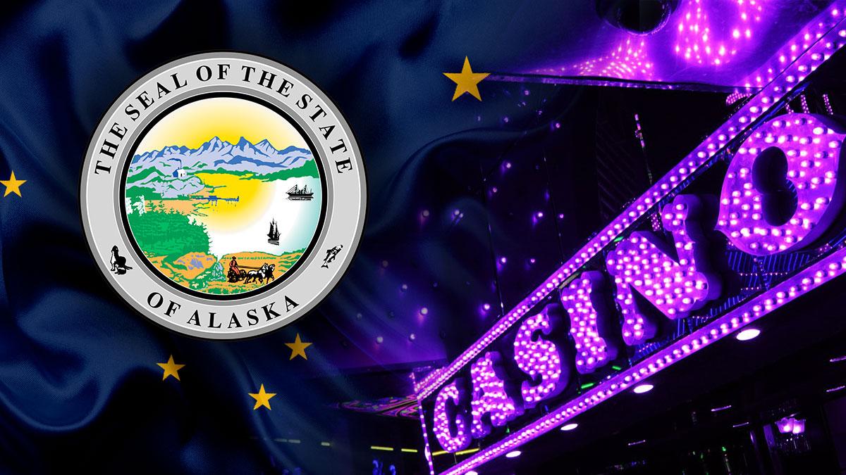 Cap Negara Bagian Alaska Dengan Tanda Kasino Ungu